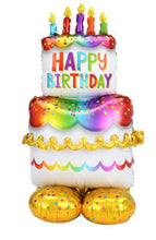 "Load image into Gallery viewer, 53"" Airloonz Birthday Cake Balloon"