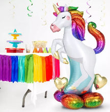 "Load image into Gallery viewer, 55"" Airloonz Rainbow Unicorn Balloon"