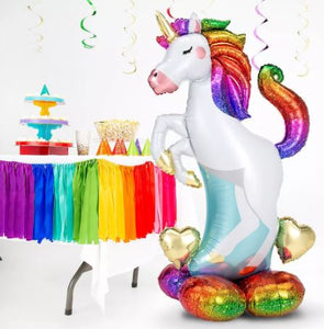 "55"" Airloonz Rainbow Unicorn Balloon"