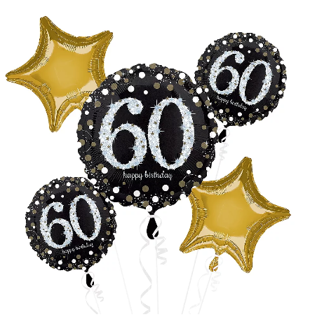Sparkling 60th Balloon Bouquet