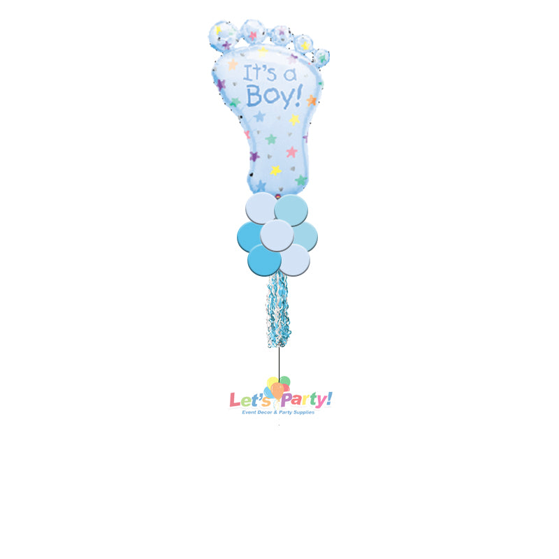 Baby Boy Foot - Yard Balloon Art