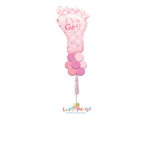 Baby Girl Foot - Yard Balloon Art