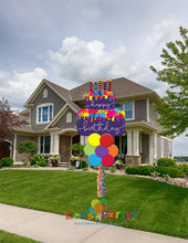 Load image into Gallery viewer, Birthday Cake - Yard Balloon Art