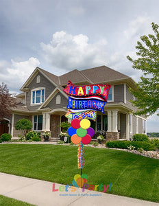 Happy Birthday To You Flag - Yard Balloon Art