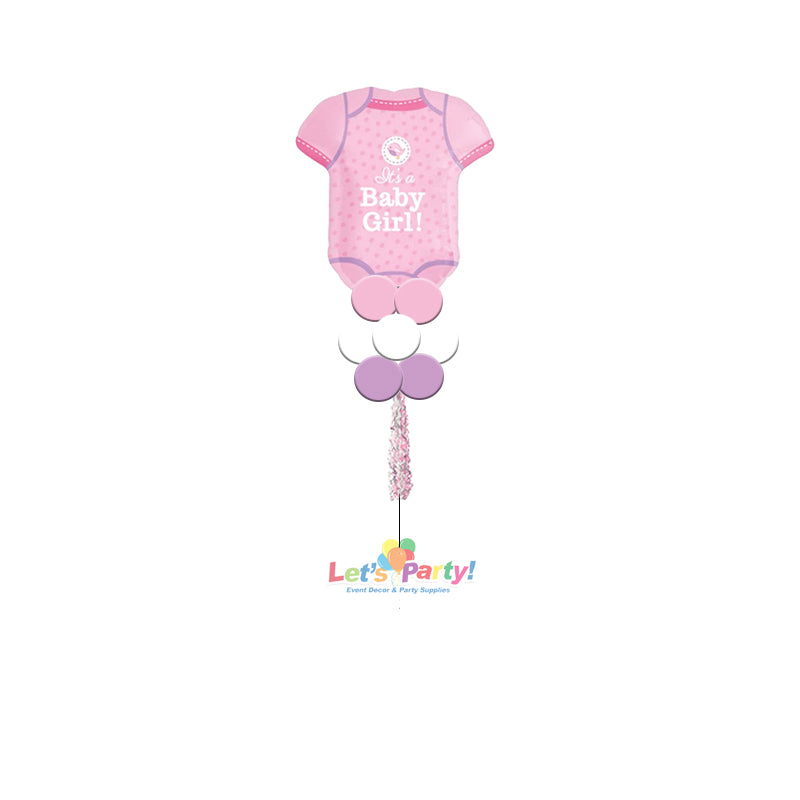 Baby Girl Onesie- Yard Balloon Art