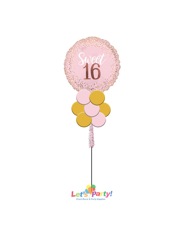Sweet 16 Blush - Yard Balloon Art