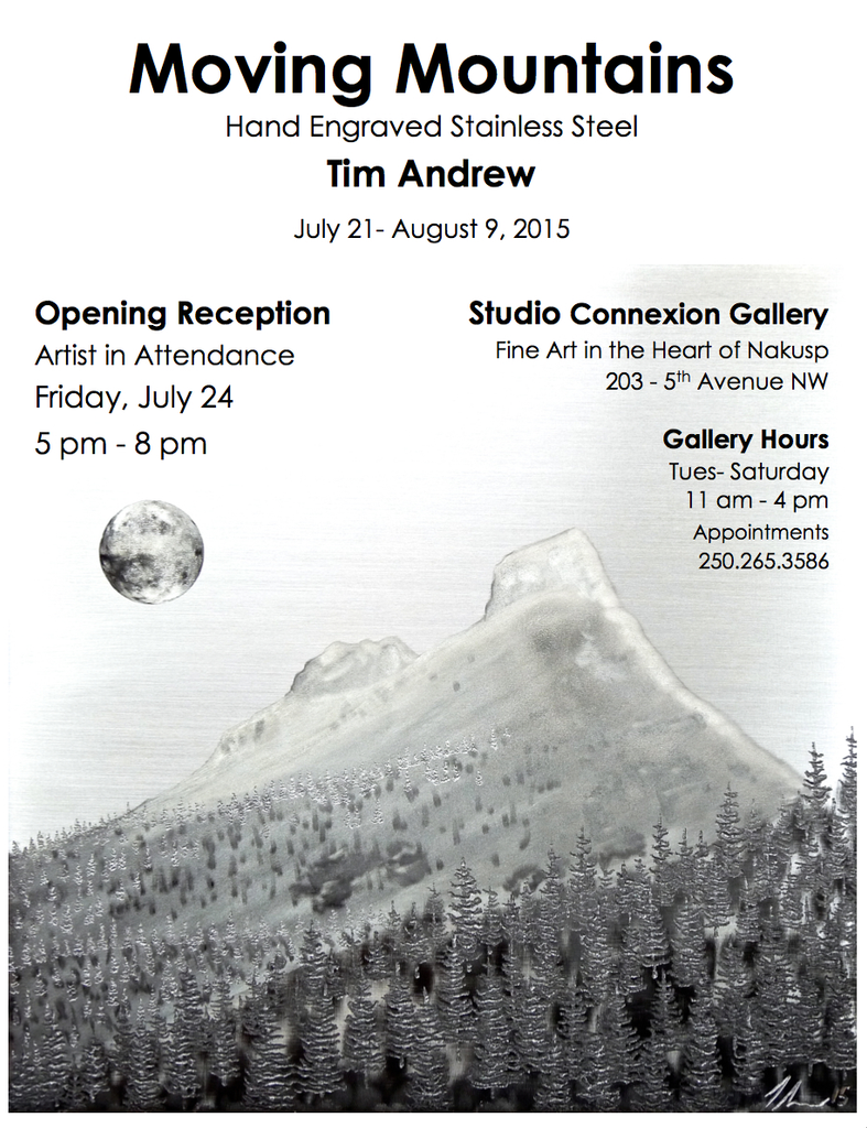 MOVING MOUNTAINS solo art show Tim Andrew