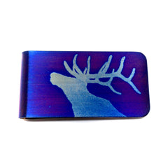 Blue Bellowing Elk Wallet.