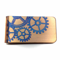 Gold Steampunk Money clip. Wallet.