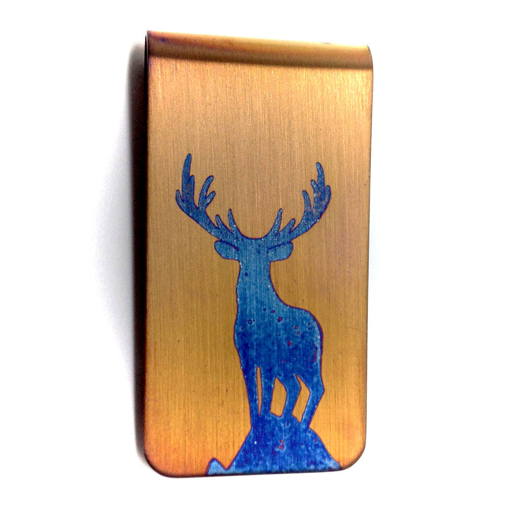 Gold Buck money clip.