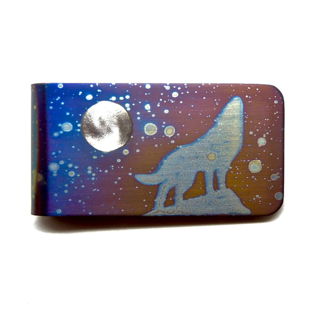 HOWLING at the MOON Money Clip