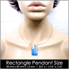 Rectangle Pendant Size on Model for Reference.