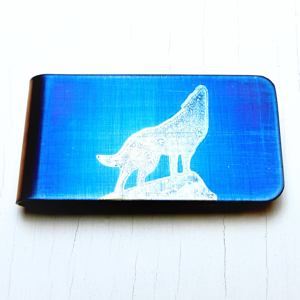 HOWLING WOLF Money Clip