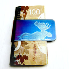 WADING MOOSE Money Clip