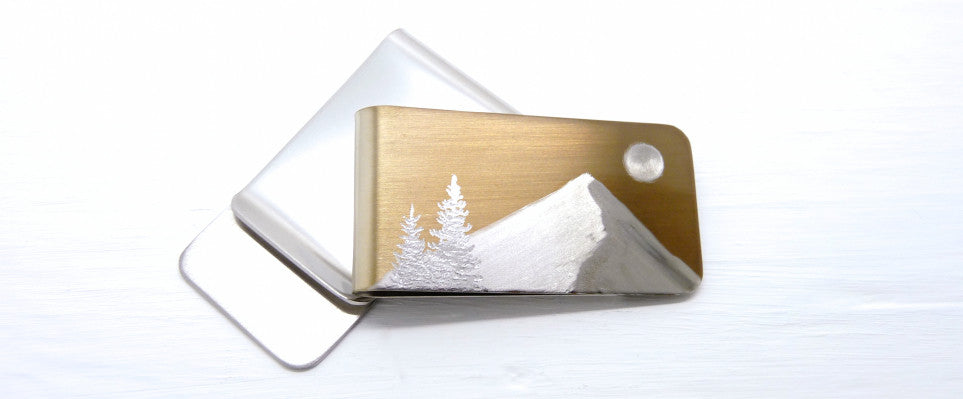 Gold Mountain Money Clip