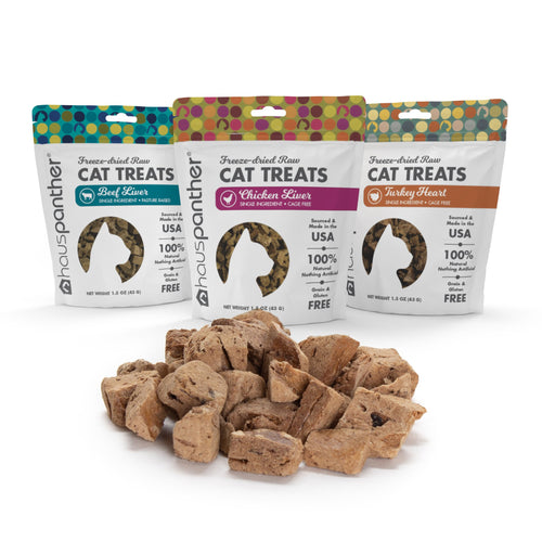 3 Bags of Freeze-dried Raw Single-Ingredient Cat Treats 1.5 oz