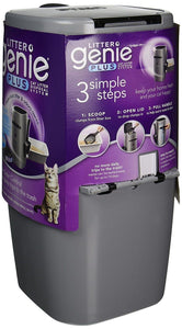 Litter Genie Plus Ultimate Cat Litter Odor Control Pail - Silver