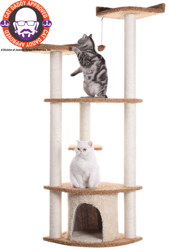 Armarkat 64-inch Ultra-Thick Faux Fur Cat Tree, Chocolate