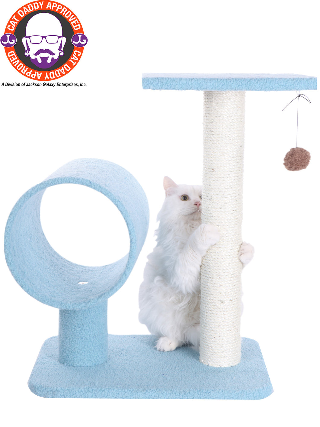 Armarkat 26-inch Faux Fleece Kitten Tree, Sky Blue