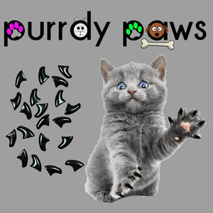 Soft Nail Caps for Cat Claws (40-Pack) by Purrdy Paws