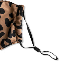 Load image into Gallery viewer, close-up view of ear strap of face mask - leopard print
