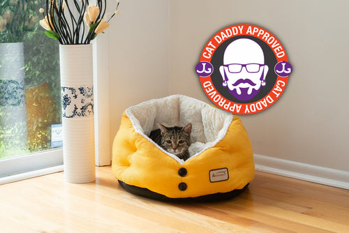 Armarkat Golden Waffle Cat Bed