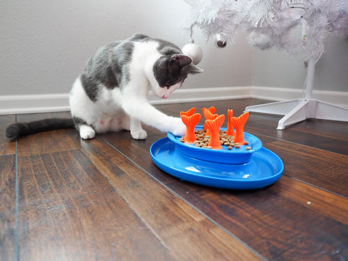 Go Fish Bowl - Cat Puzzle Feeder