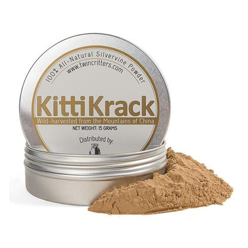 Twin Critters KittiKrack Silvervine Powder - 15 grams