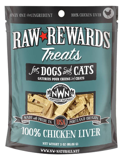 Northwest Naturals Freeze Dried Treats Chicken Liver 3oz