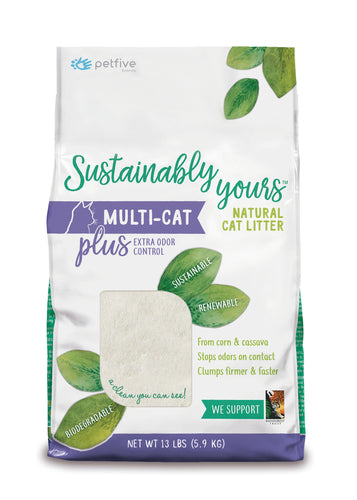 Sustainably Yours Natural Cat Litter - 13 lbs
