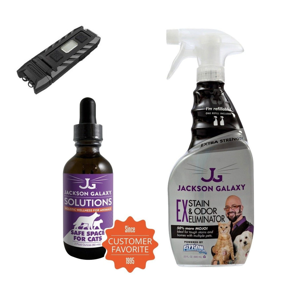 Urine Luck Bundle: EX Stain & Odor, Safe Space for Cats, & Mini Blacklight