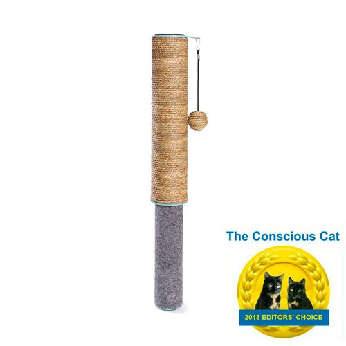 Hauspanther Scratch Pole Dual Surface (color: seagrass/felt)