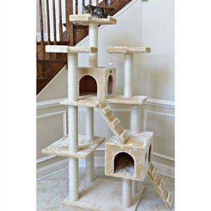 Armarkat Classic 74-inch Faux Fur Cat Tree, Beige