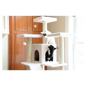 Armarkat Classic 77-Inch Cat Tree Model, Ivory (B7701)