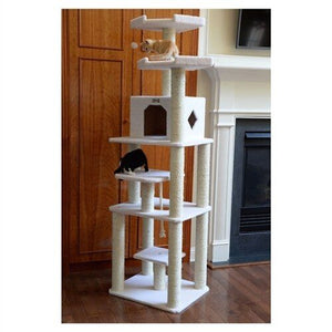 Armarkat Classic 78-Inch Cat Tree Model, Ivory (B7801)