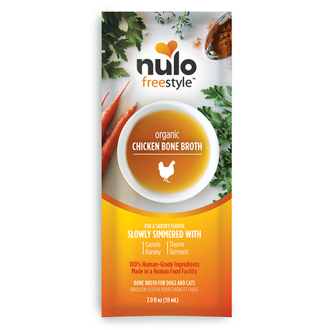 Nulo FreeStyle Bone Broth Organic Chicken Packet 2oz