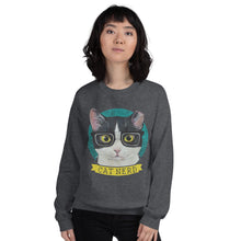 Load image into Gallery viewer, Cat Nerd Unisex Sweatshirt