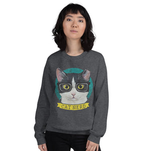 Cat Nerd Unisex Sweatshirt