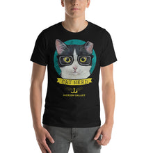 Load image into Gallery viewer, T-Shirt: CAT NERD (turquoise design)