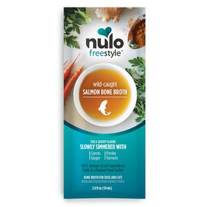 Nulo FreeStyle Bone Broth for Cats & Dogs - Wild-Caught Salmon Packet 2oz