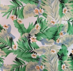 Becky Dress in Solid cotton Tropical Leaves - Shop women apparel, face masks, Jumpsuits, Ladies jackets online - Style with Christine