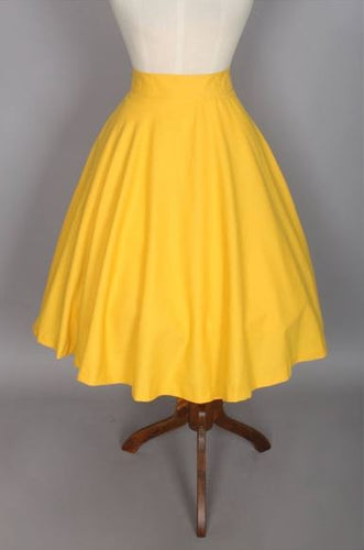 Lindy Skirt in Golden Yellow Cotton - Shop women apparel, face masks, Jumpsuits, Ladies jackets online - Style with Christine