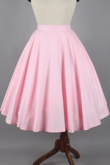 Lindy Skirt in Solid Ballerina Pink Cotton - Shop women apparel, face masks, Jumpsuits, Ladies jackets online - Style with Christine