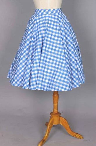 Lindy Skirt Morocco Blues Checkered Gingham - Shop women apparel, face masks, Jumpsuits, Ladies jackets online - Style with Christine