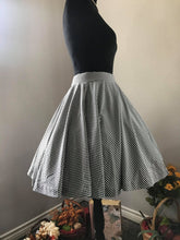 Load image into Gallery viewer, Lolita Skirt Small Black Checkered Gingham - Shop women style vintage, Audrey Hepburn jackets online -Christine