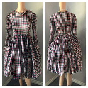 Loren Dress in Autumn Plaid Checkered - Shop women apparel, face masks, Jumpsuits, Ladies jackets online - Style with Christine