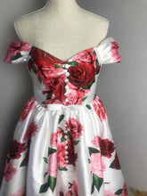 Load image into Gallery viewer, Diana Dress in Roses Taffeta - Shop women style vintage, Audrey Hepburn jackets online -Christine