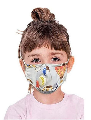 Kids Printed Face Mask Reusable Washable Cotton 2-12 years old - Shop women apparel, face masks, Jumpsuits, Ladies jackets online - Style with Christine