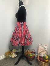 Load image into Gallery viewer, Lindy Skirt Autumn Plaid Checkered - Shop women apparel, face masks, Jumpsuits, Ladies jackets online - Style with Christine