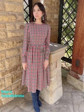 Load image into Gallery viewer, Loren Dress in Autumn Plaid Checkered - Shop women apparel, face masks, Jumpsuits, Ladies jackets online - Style with Christine